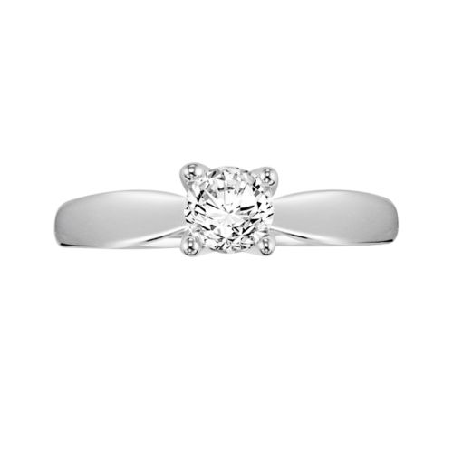 Cherish Always Certified Diamond Engagement Ring in 14k White Gold (5/8 ct. T.W.)
