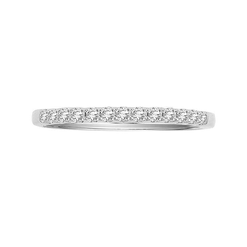 Cherish Always 14k White Gold 1/4-ct. T.W. Certified Diamond Wedding Band