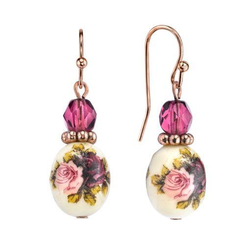 1928 Floral Drop Earrings