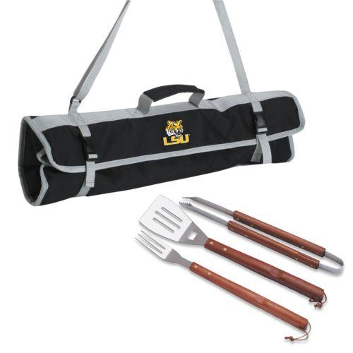 LSU Tigers 4-pc. Barbecue Tote Set