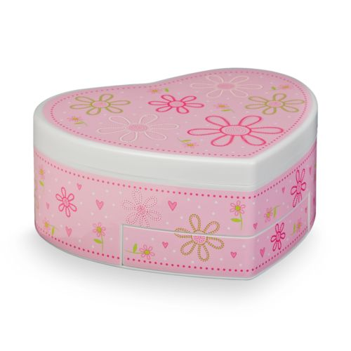 Mele & Co Floral Musical Heart Jewelry Box