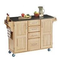 Black Granite Top Kitchen Cart