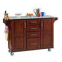 Granite-Top Kitchen Cart