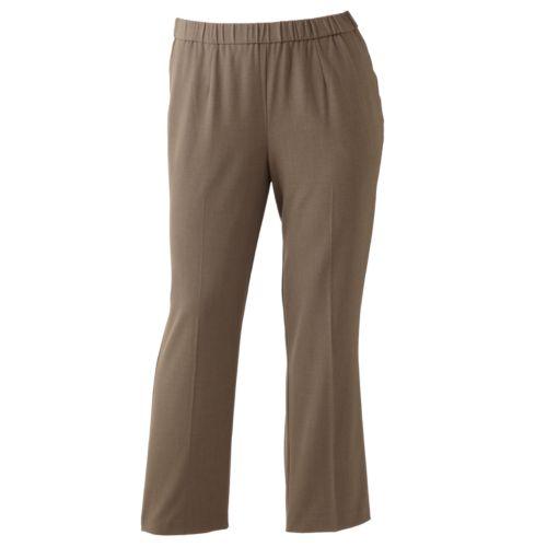 Plus Size Sag Harbor Pull-On Dress Pants
