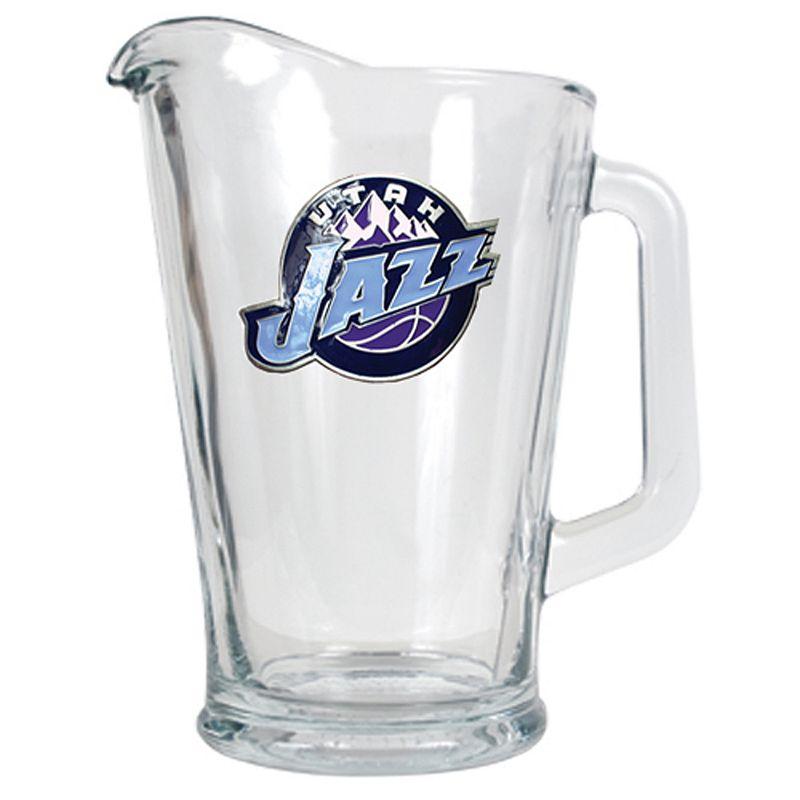 Utah Jazz Glass Pitcher