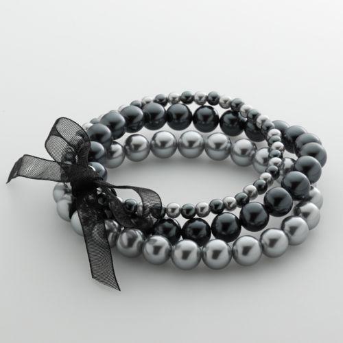 Croft & Barrow® Simulated Pearl Stretch Bracelet