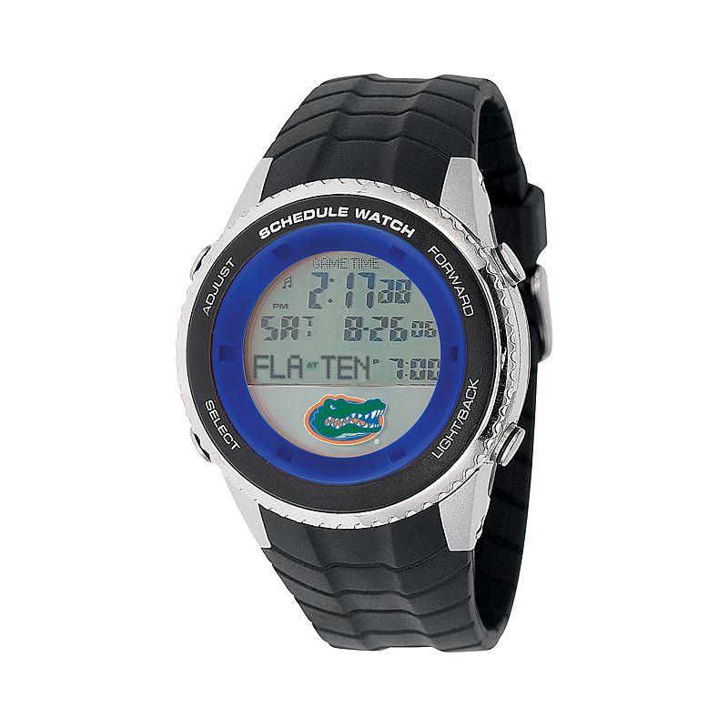 Game Time Florida Gators Stainless Steel Digital Schedule Watch - Men