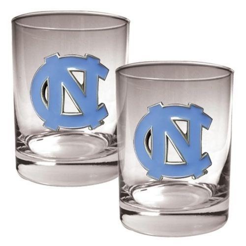 North Carolina Tar Heels 2-pc. Rocks Glass Set