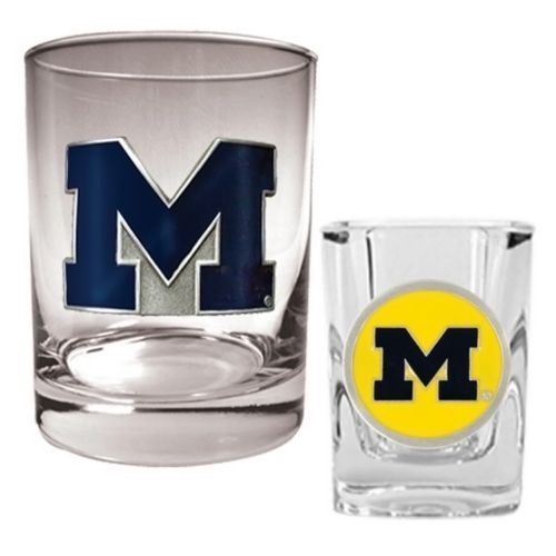 Michigan Wolverines 2-pc. Rocks and Shot Glass Set