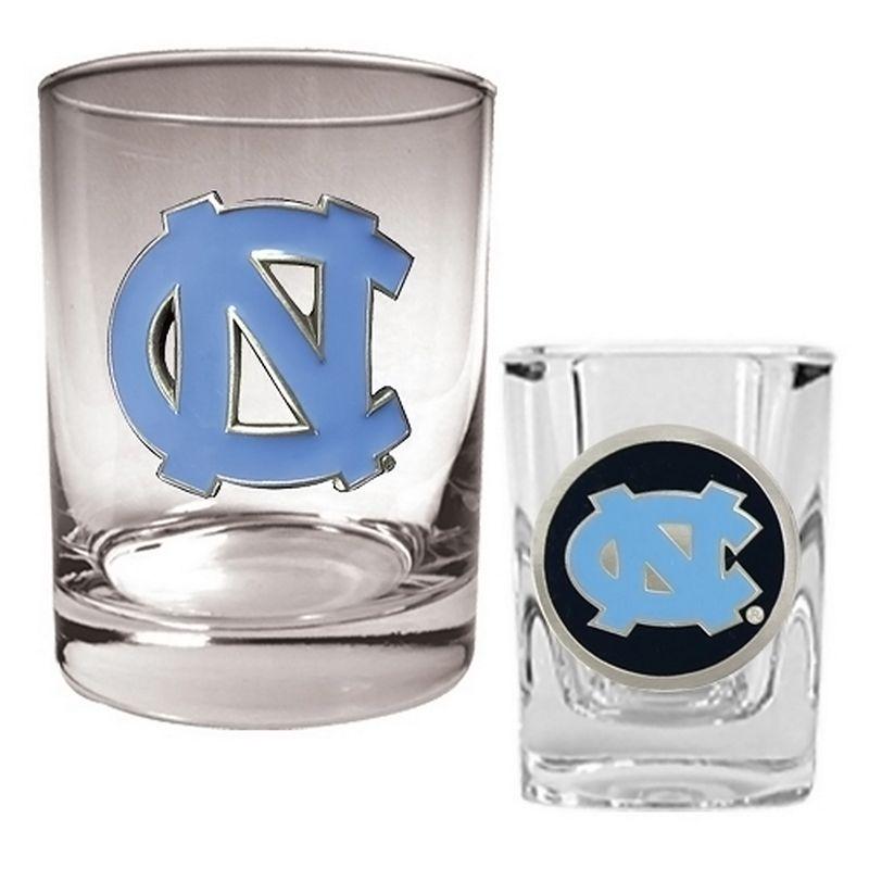 North Carolina Tar Heels 2-pc. Rocks and Shot Glass Set