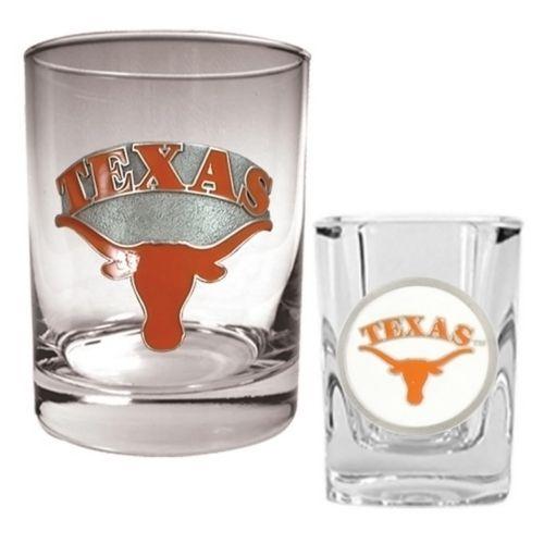 Texas Longhorns 2-pc. Rocks and Shot Glass Set