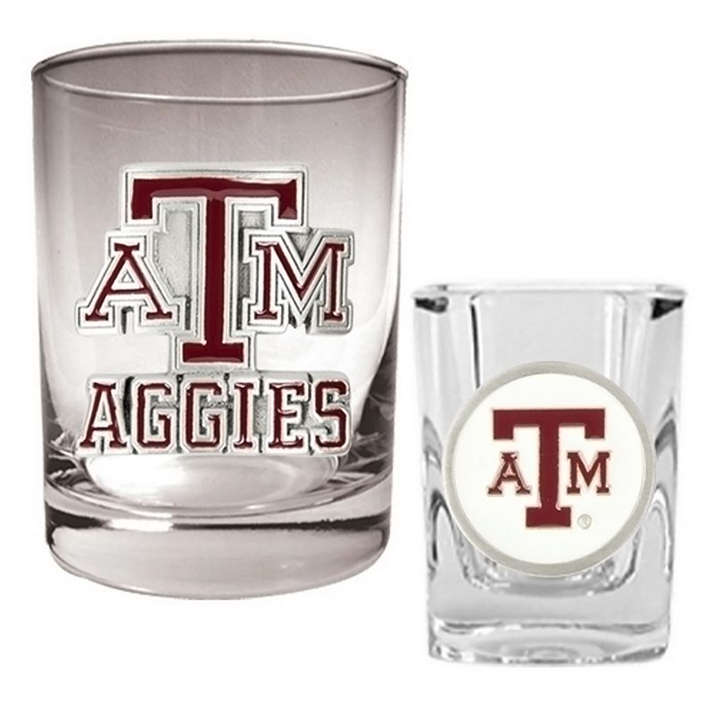 Texas A and M Aggies 2-pc. Rocks and Shot Glass Set