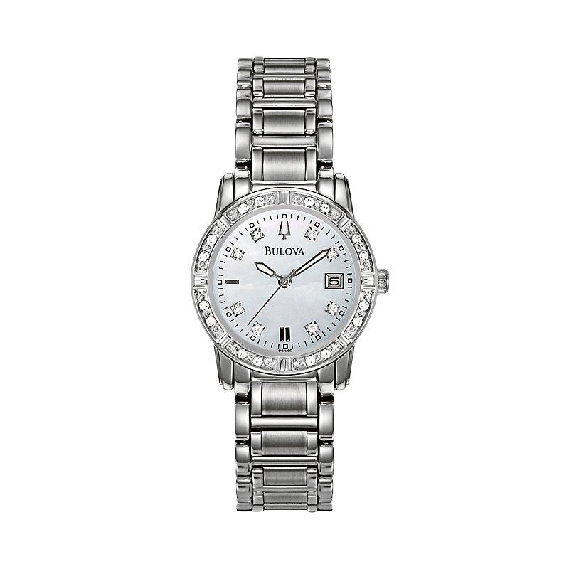 Bulova Women's Diamond & Crystal Stainless Steel Watch - 96R105