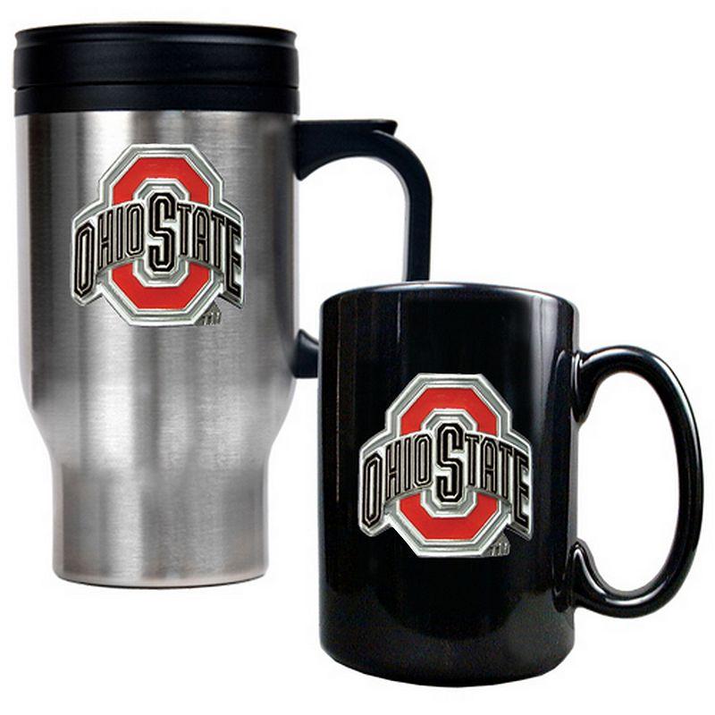 Ohio State Buckeyes 2-pc. Travel Mug Set