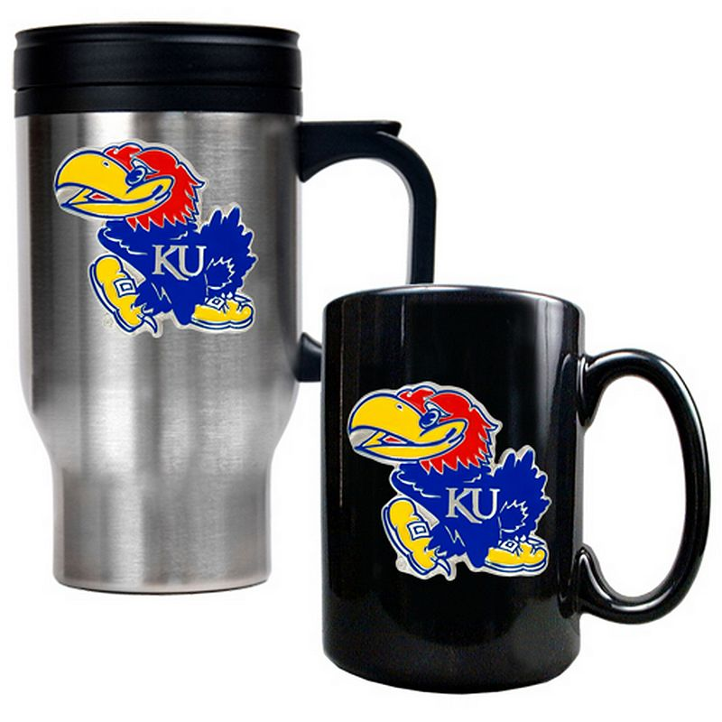 Kansas Jayhawks 2-pc. Travel Mug Set