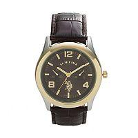 U.S. Polo Assn. Men's Leather Watch - USC50000