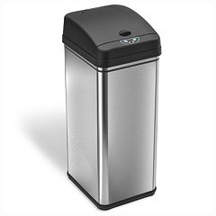 iTouchless Deodorizer 13-gallon Stainless Steel Touchless Trash Can With Carbon Filter Technology by