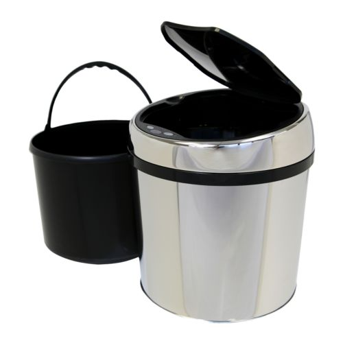 iTouchless 1.5-gallon Round Stainless Steel Touchless Trash Can