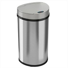 iTouchless 13-gallon Semi-Round Extra-Wide Automatic Sensor Touchless Trash Can  by