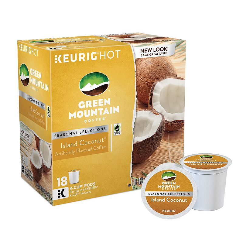 Keurig® K-Cup® Pod Green Mountain Coffee Island Coconut Coffee - 18-pk.