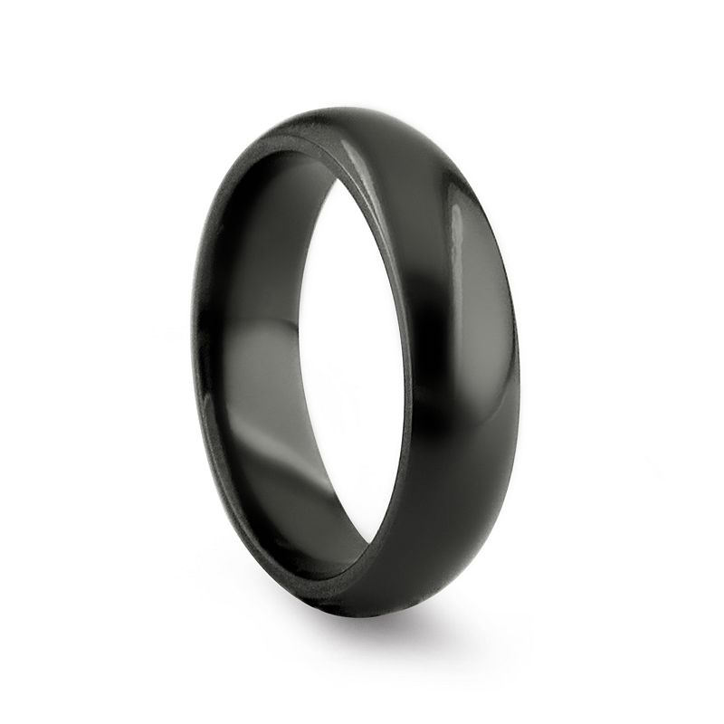 STI by Spectore Black Titanium Dome Band Ring