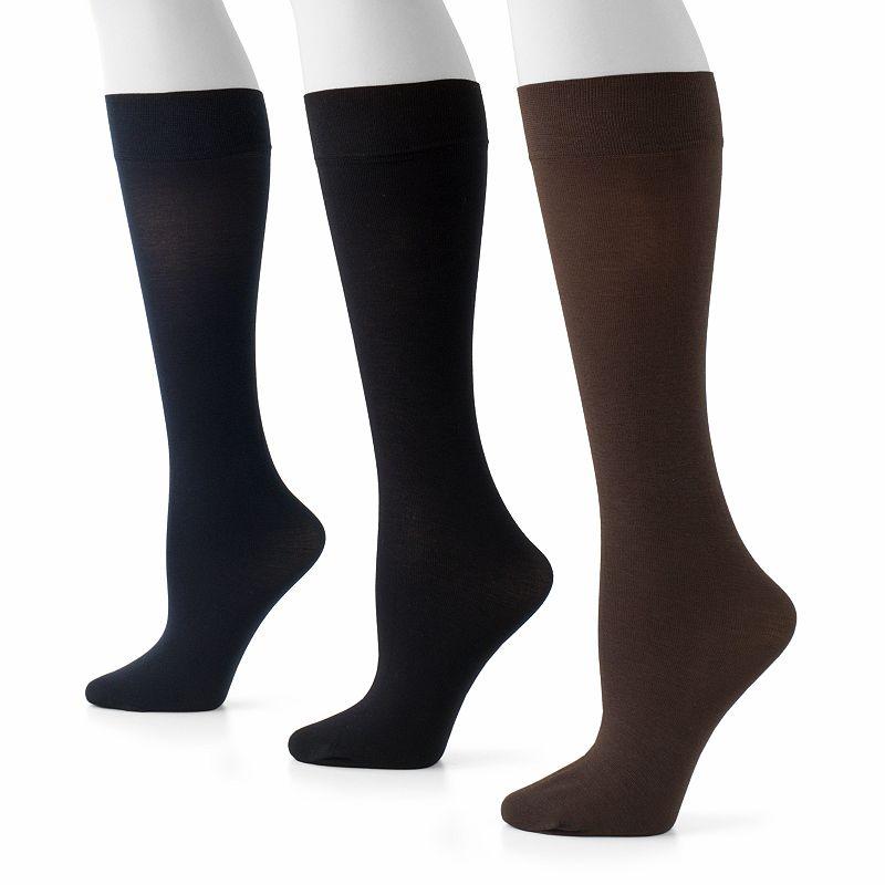 GOLDTOE 3-pk. Knee-High Pima Trouser Socks