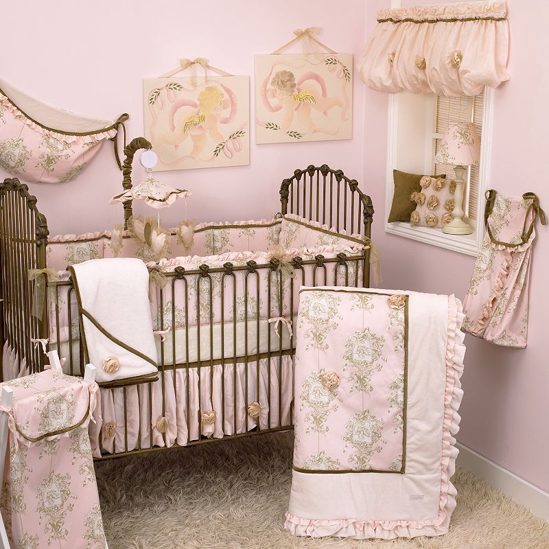 Cotton Tale 4-pc. Lollipops and Roses Crib Bedding Set