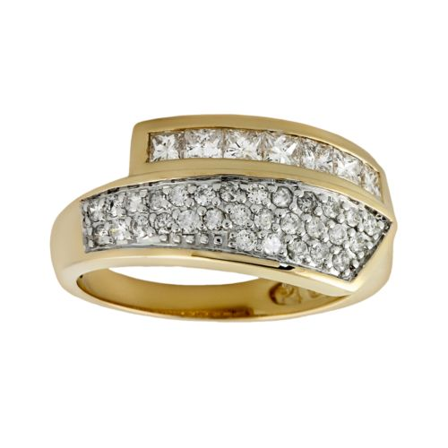 14k Gold 3/4-ct. T.W. Diamond Bypass Ring
