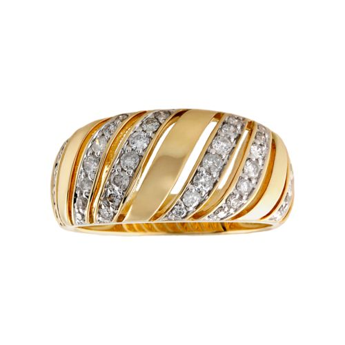 14k Gold 1/2-ct. T.W. Diamond Wave Ring