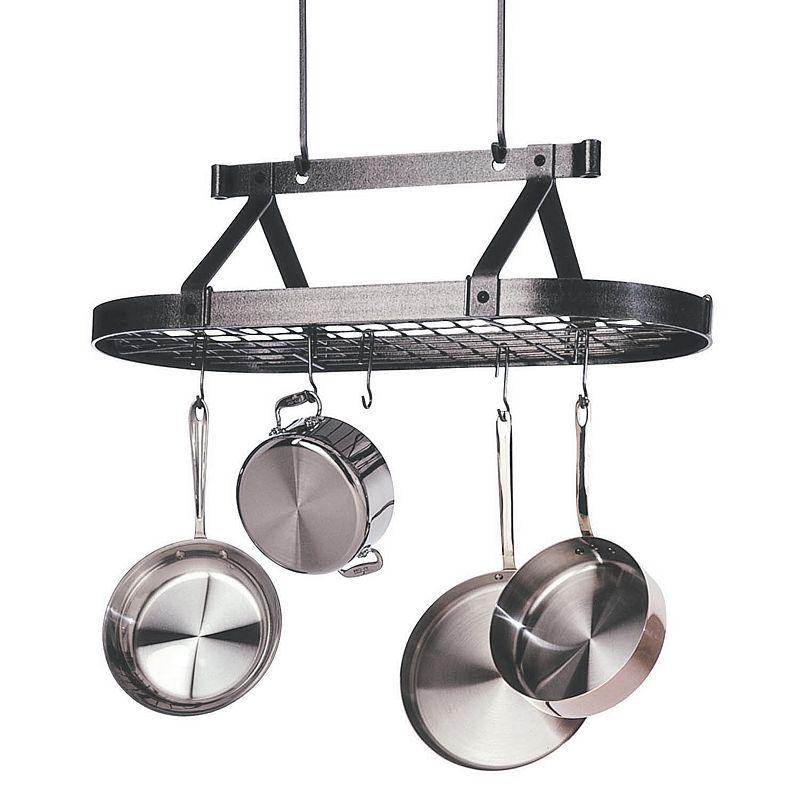 Enclume Premier 3-ft. Hammered Steel Pot Rack