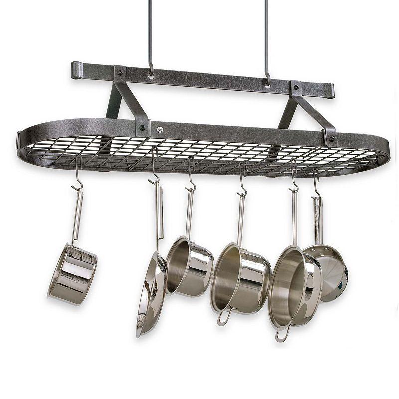Enclume Premier 4-ft. Hammered Steel Pot Rack