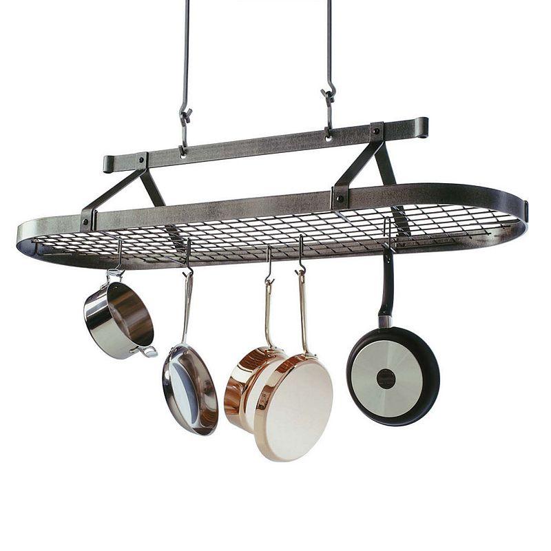 Enclume Premier 5-ft. Hammered Steel Pot Rack