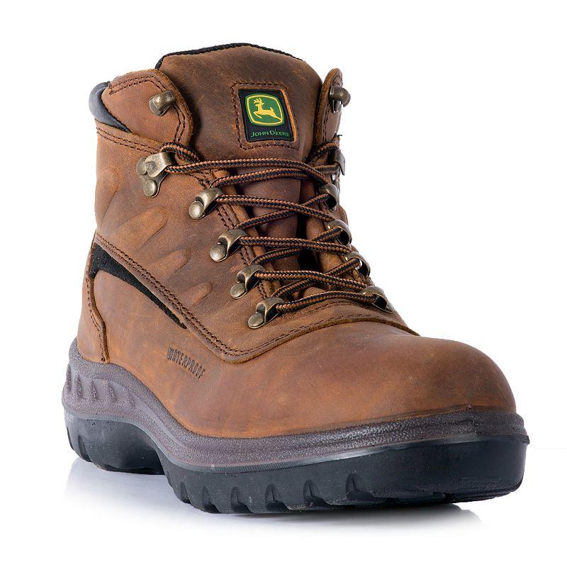 John Deere Men's Waterproof Steel Toe Hiking Boots