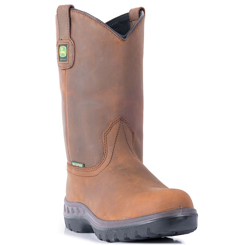 John Deere Men's Waterproof Wellington Work Boots