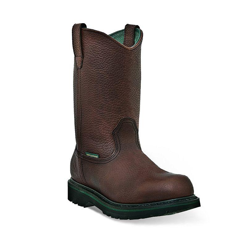 John Deere Men's Waterproof Slip-Resistant Wellington Work Boots