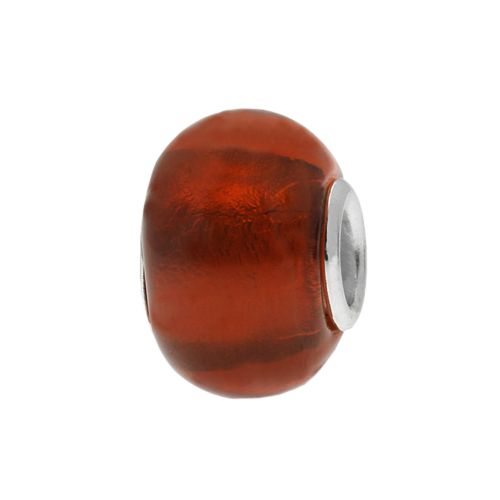 Individuality Beads Sterling Silver Foiled Glass Bead