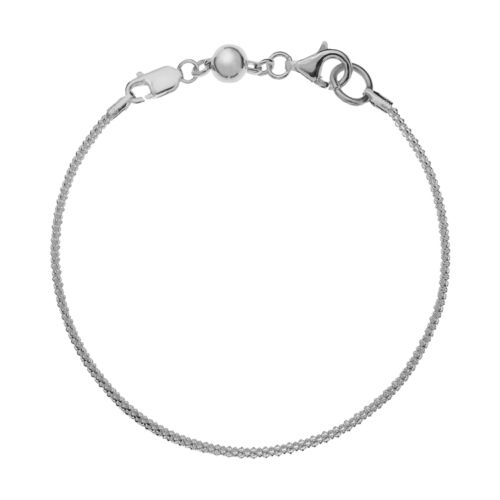 Individuality Beads Sterling Silver Wheat Chain Bracelet