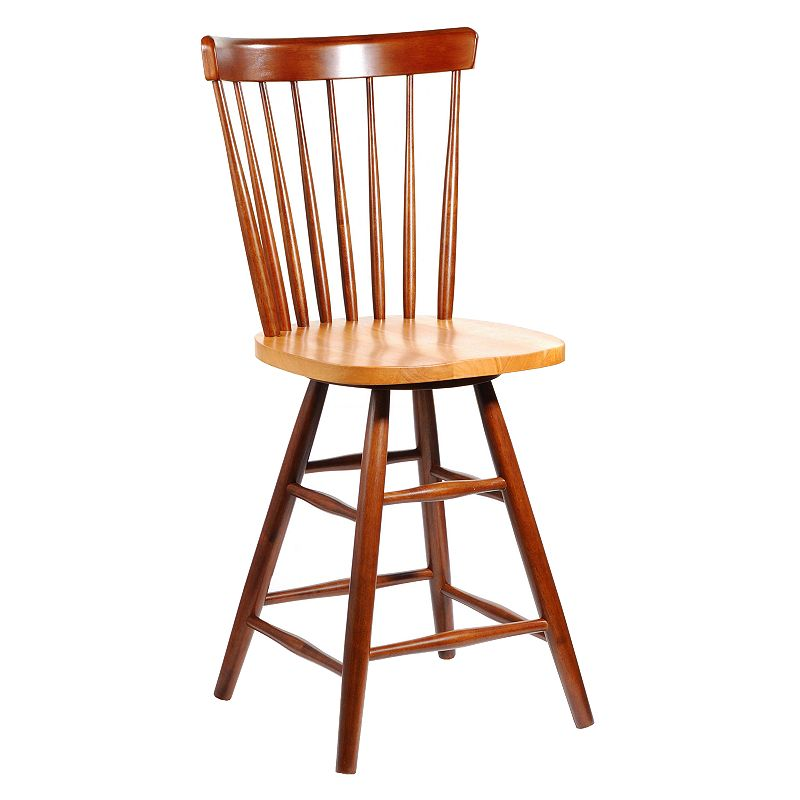 Copenhagen Wood Swivel Counter Stool
