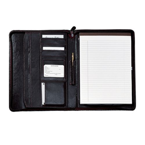 Royce Leather Zip-Around Padfolio