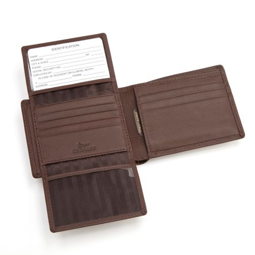 Royce Leather Euro Commuter Bifold Wallet