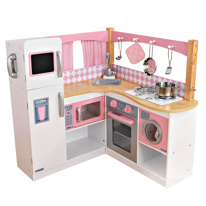 Kidkraft Corner Kitchen: KIDKRAFT GRAND GOURMET CORNER KITCHEN PLAY SET (WHITE