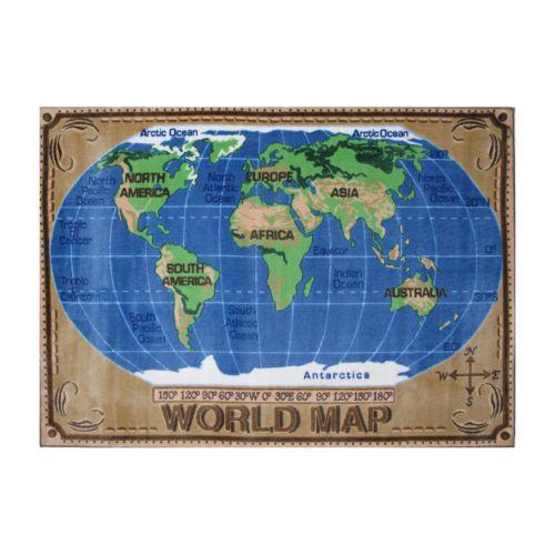 Fun Rugs Supreme World Map Rug