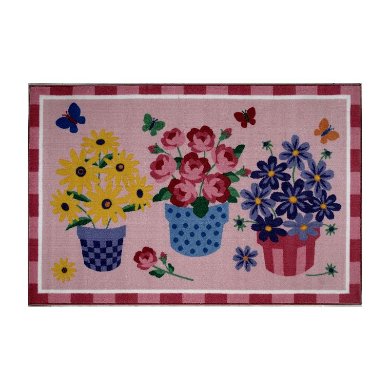 Fun Rugs Olive Kids Blossoms and Butterflies Rug - 3'3'' x 4'10''