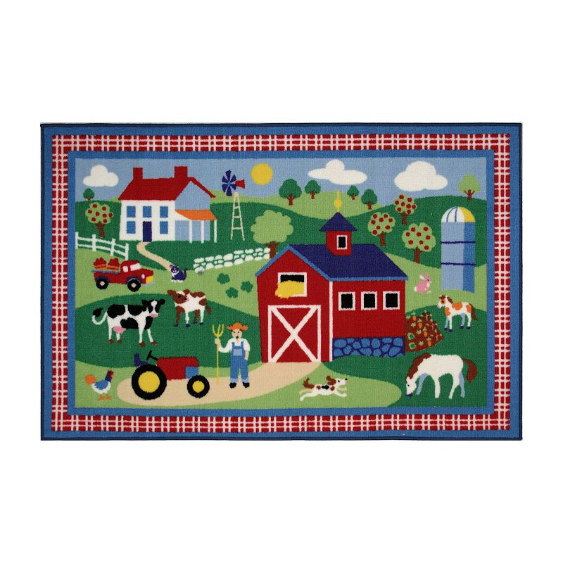 Fun Rugs Olive Kids Country Farm Rug - 3'3'' x 4'10''