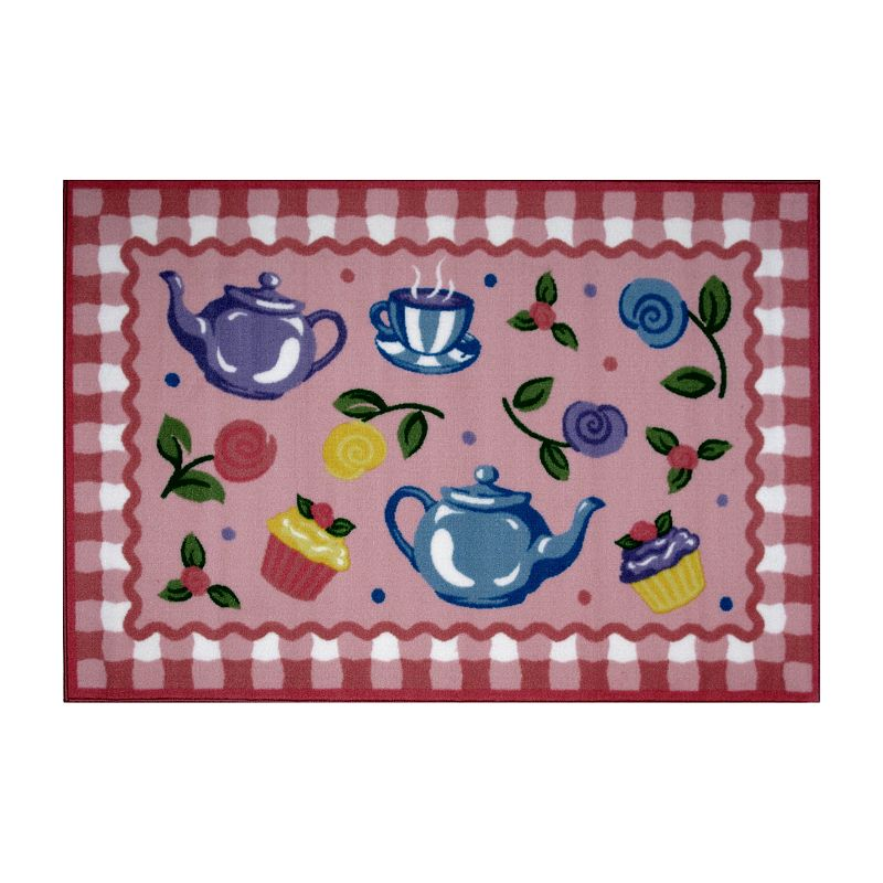 Fun Rugs Olive Kids Tea Party Rug - 3'3'' x 4'10''