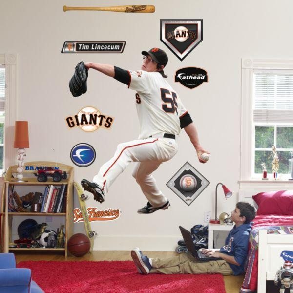 Fathead San Francisco Giants Tim Lincecum Wall Decal