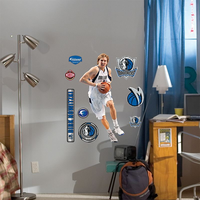 Fathead Junior Dallas Mavericks Dirk Nowitzki Wall Decal