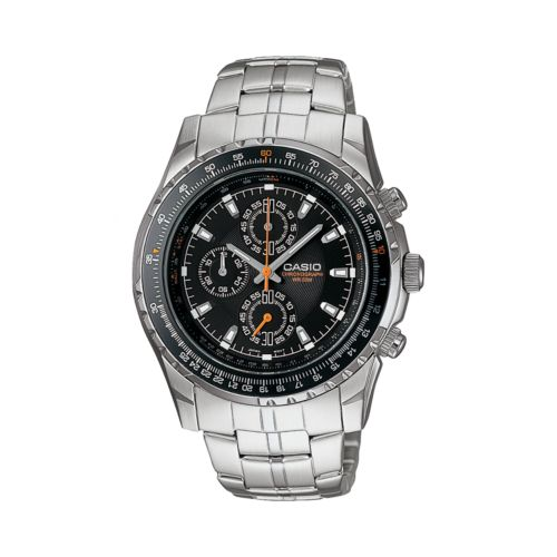 Casio Stainless Steel Chronograph Watch - Men