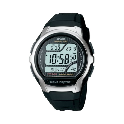 Casio Watch - Men's Wave Ceptor Atomic Black Resin Digital Chronograph