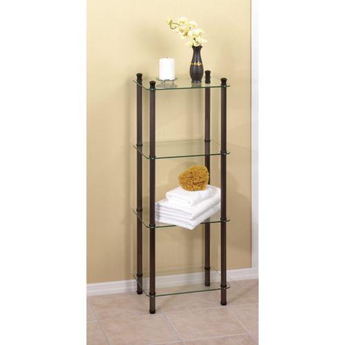 Creative Bath 4-Shelf Glass Tower
